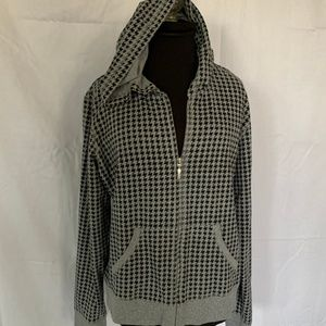 Style & Co. Houndstooth Zipper Hoodie